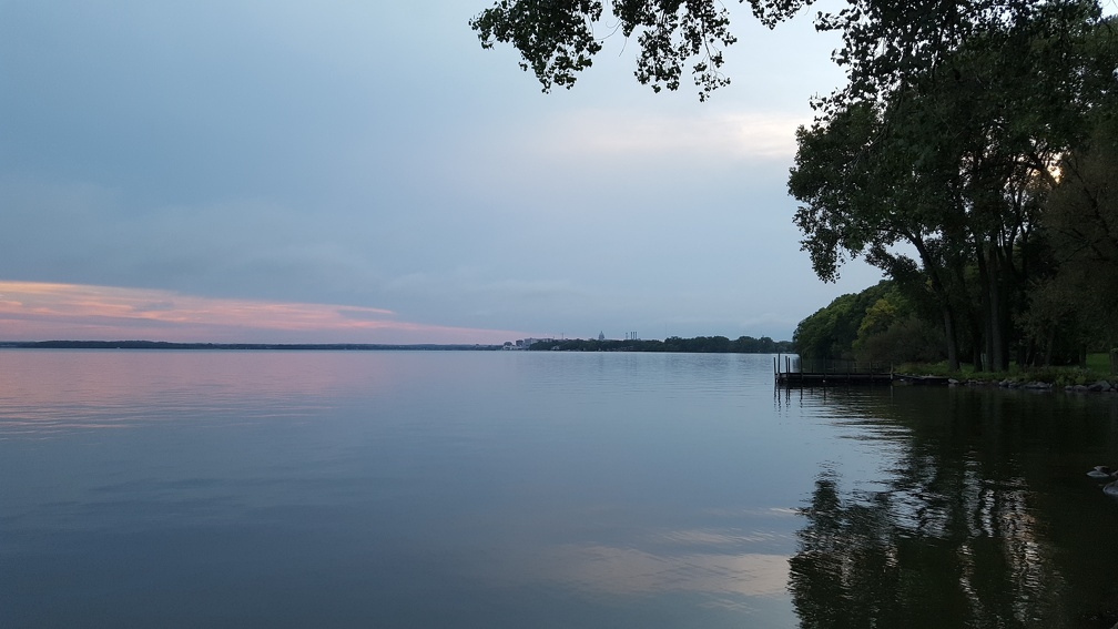 Lake Monona from a nearby park. You might be able to make out downtown and the capitol dome in the distance.