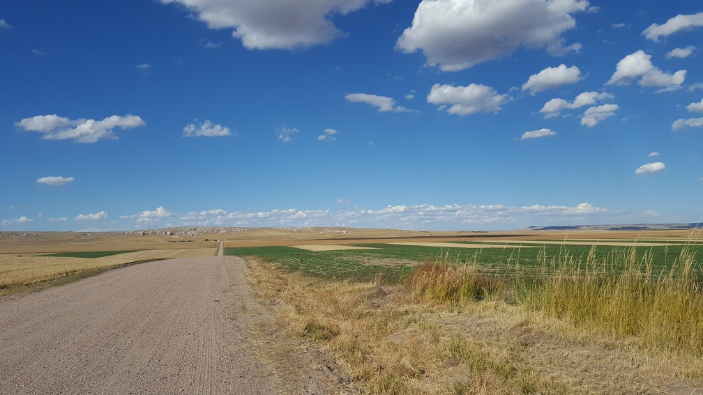 Back to slow hills and beautiful plains. I'm not actually sure if I was in Nebraska or Wyoming when I took this.