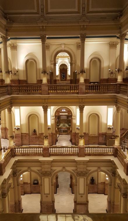 Inside Colorado State Capitol Building.