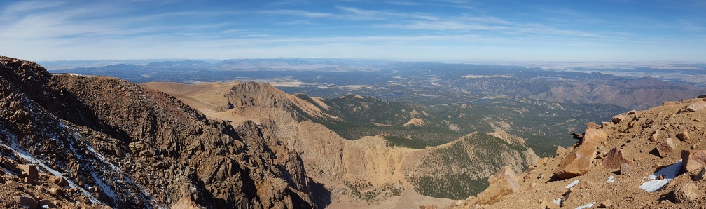 Panorama from atop Pikes Peak.