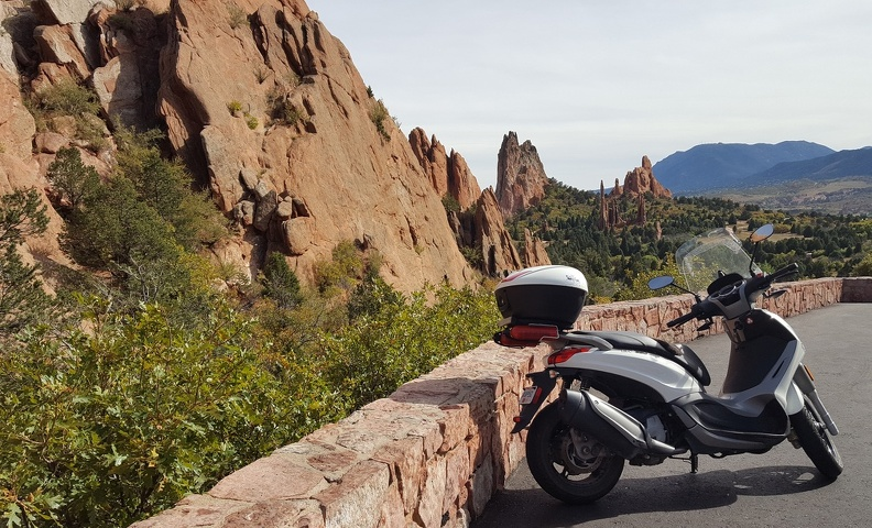 Scooter at Garden of the Gods