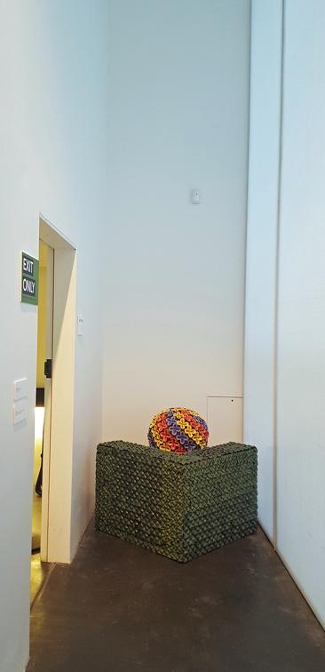 Kim Dickey - fun use of a weird space.