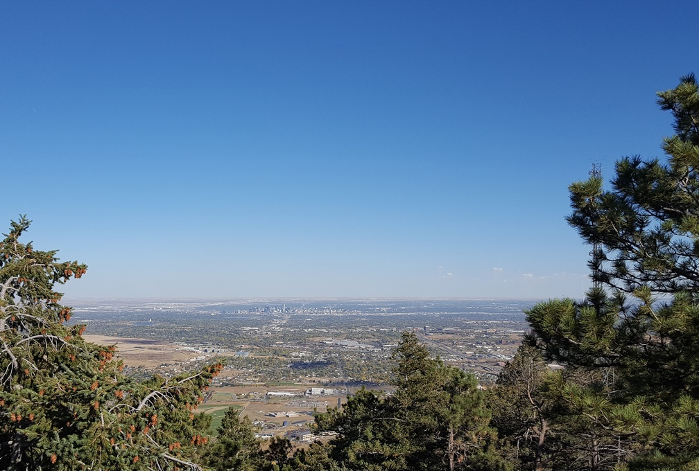 Obligatory shot of Denver from LOOKOUT Mountain. I can see Robin & Kevin's house from here! In theory.
