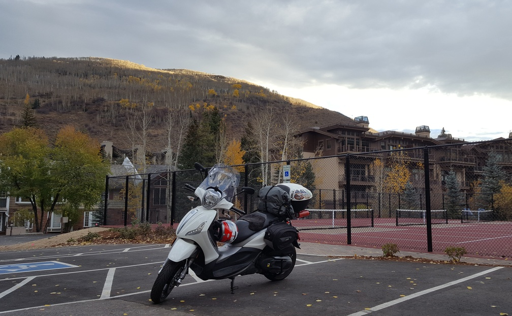 Scooter in Vail, Colorado on Saturday morning.