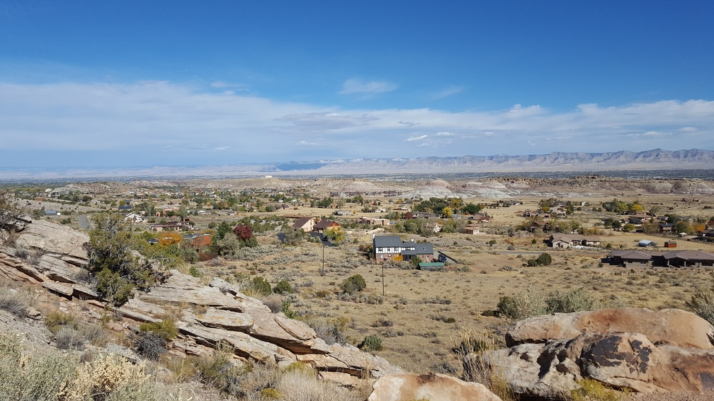 Outskirts of Grand Junction from Colorado National Monument.