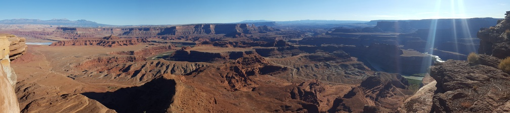 Panorama of the view from Dead Horse Point.