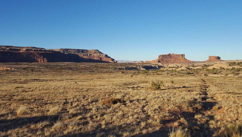 The Monitor and the Merrimack from a stop along the road back to Moab.