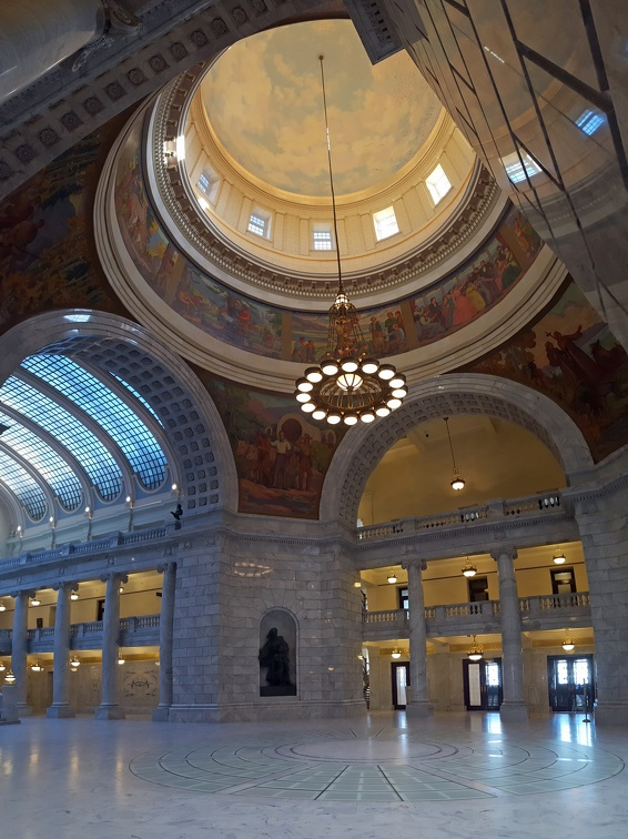 Inside the capitol building.