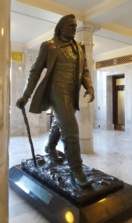 Obligatory Brigham Young statue in the capitol. Yes his finger is shiny.
