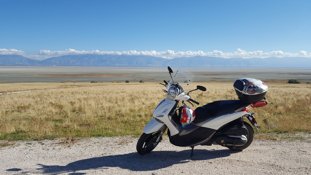Scooter on Antelope Island