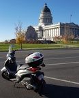 Scooter at Utah's Capitol