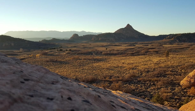 Overlooking Hop Valley Trail