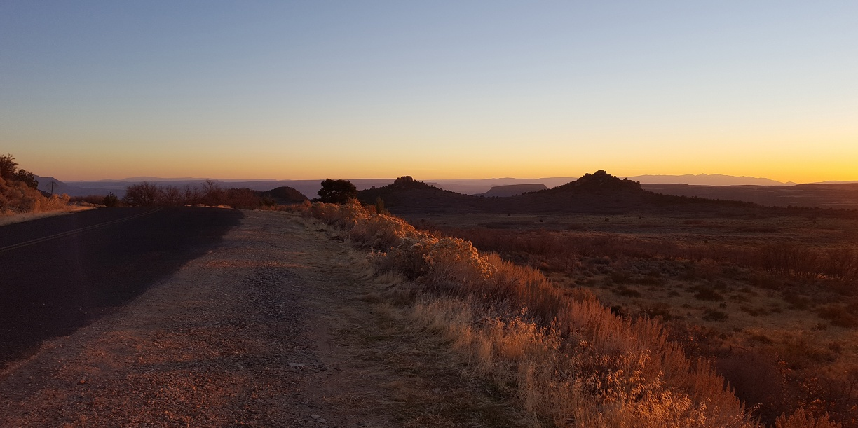 The sun is setting on Kolob Terrace Road and I can't stop taking pictures.