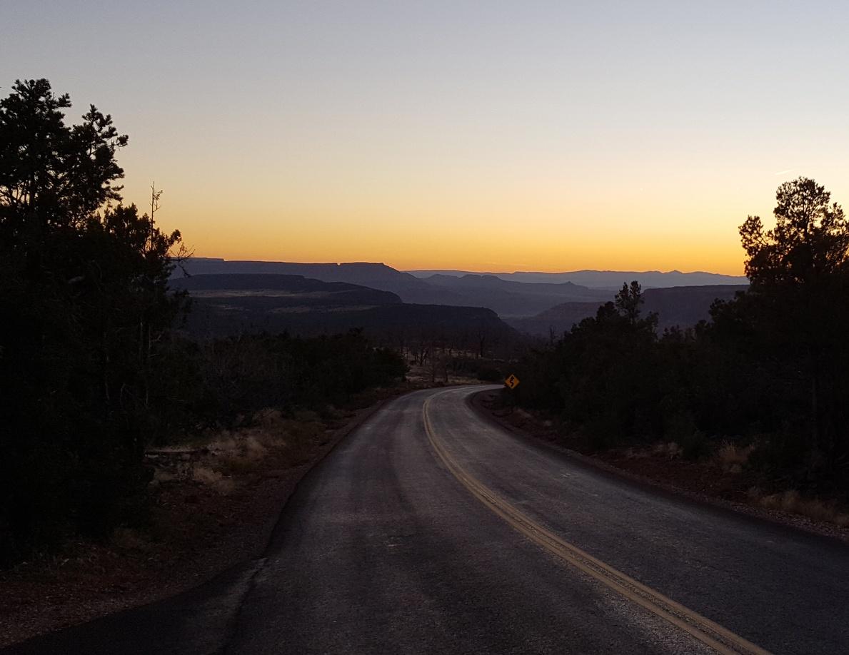 Sunset on Kolob Terrace Road.