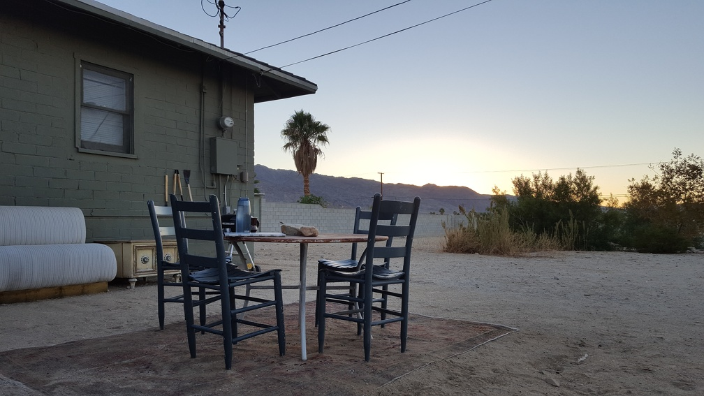 Home for the week in Twentynine Palms.