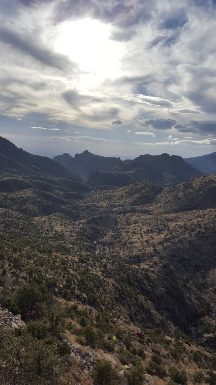 View of a valley from Mt. Lemmon