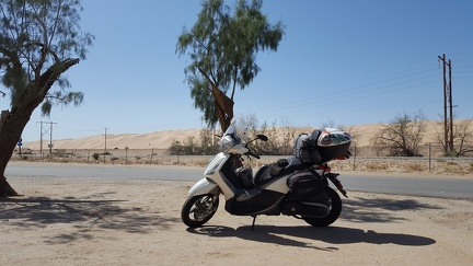 Scooter at Imperial Dunes