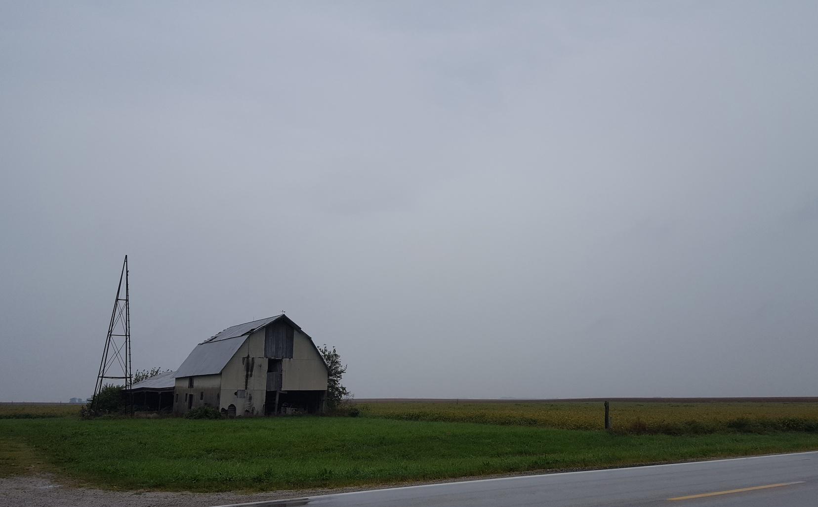 Run down rainy barn in Illinois II.