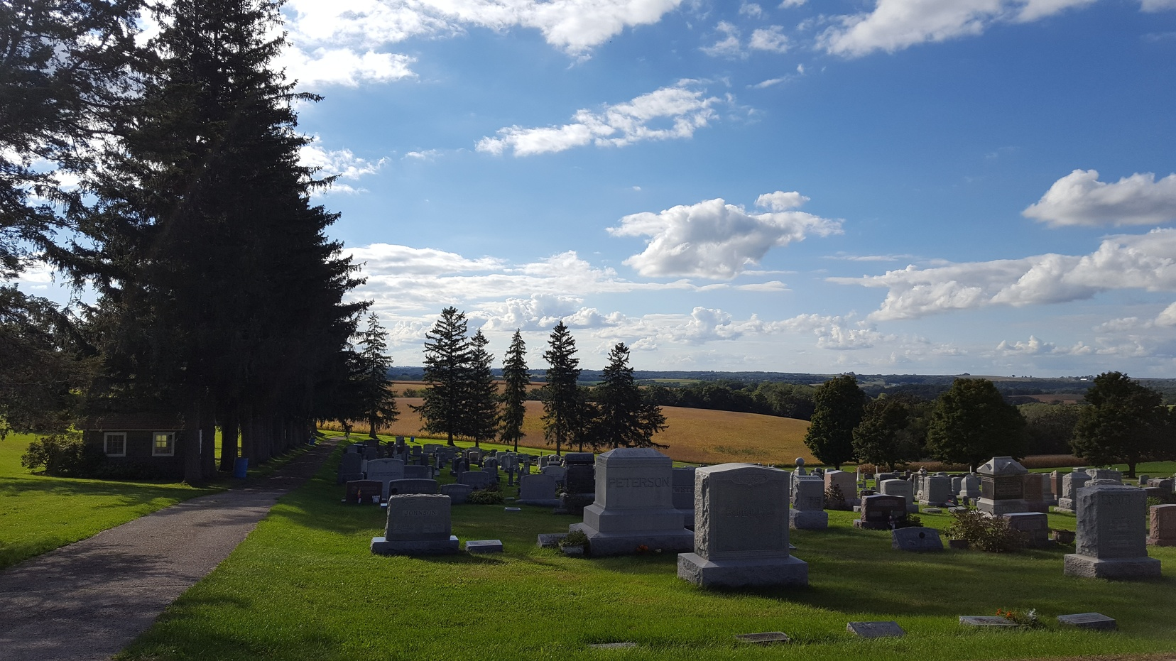 Scenic valleys and cemeteries? These are a few of my favorite things...